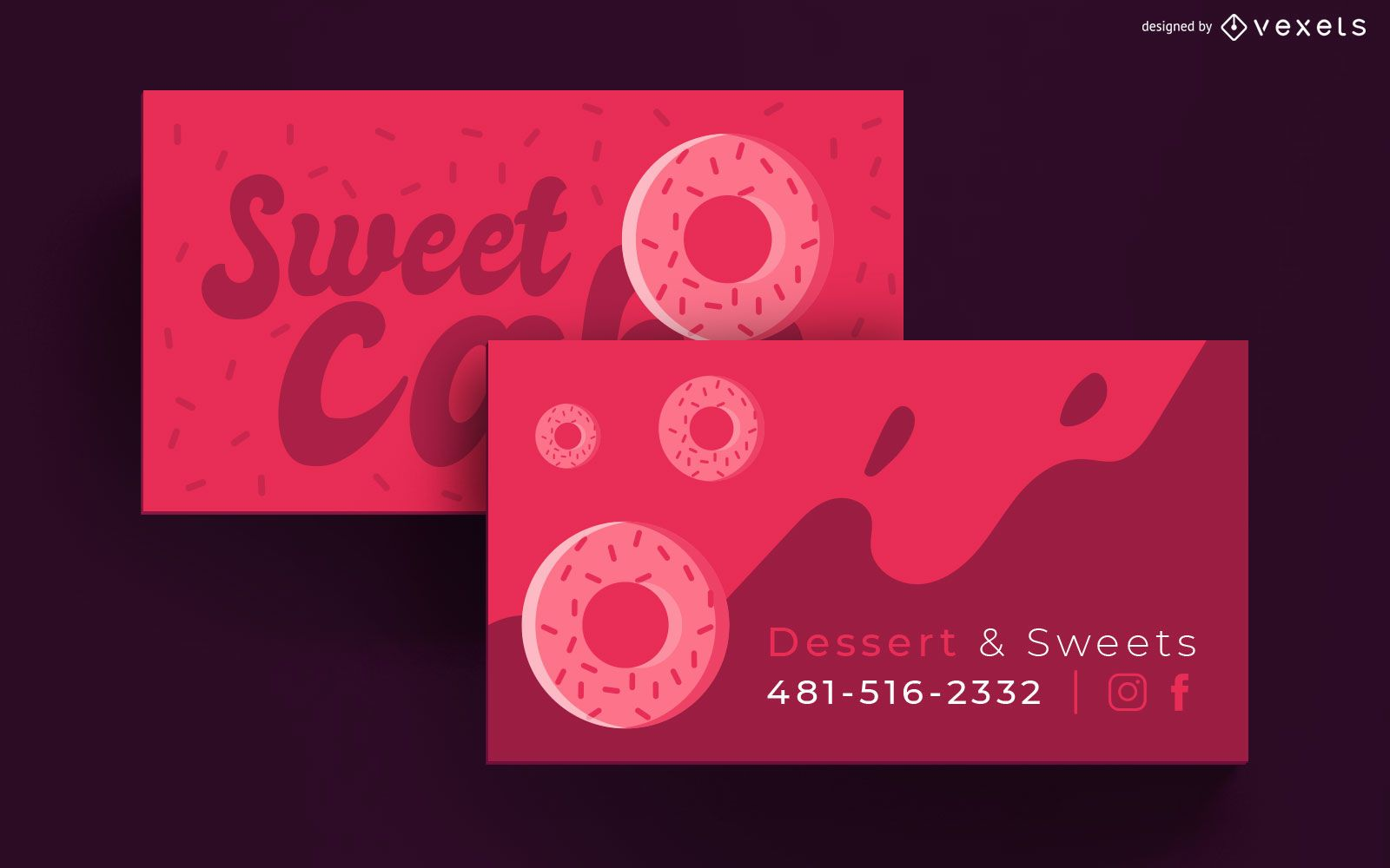 Pastry Business Card Template