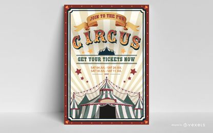 Design editável de cartaz de circo