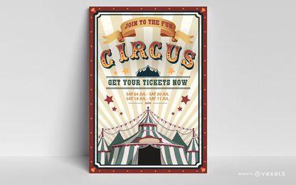 Zirkus Poster bearbeitbares Design