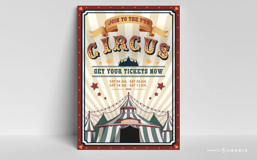 Diseño editable del cartel de circo