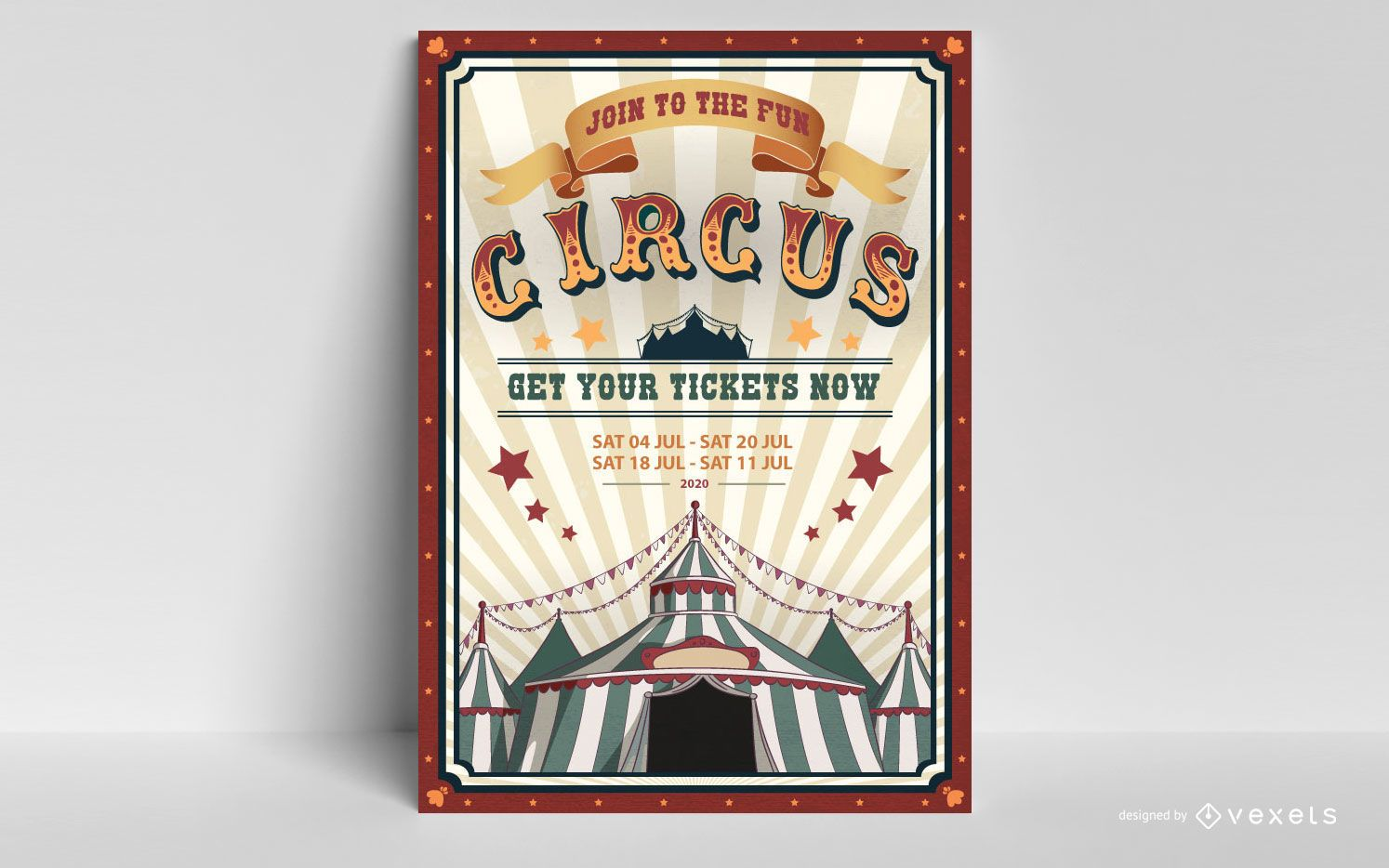 Diseño editable de cartel de circo