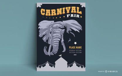 Diseño de carteles de atracciones de circo