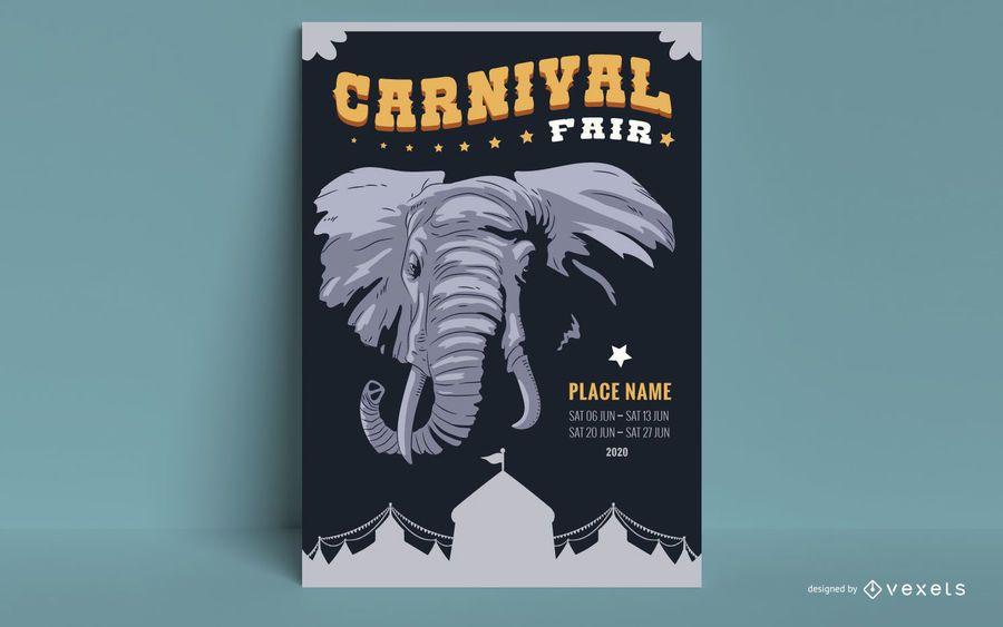 Design de cartaz de atração de circo
