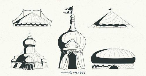 Pacote de design de tendas de circo