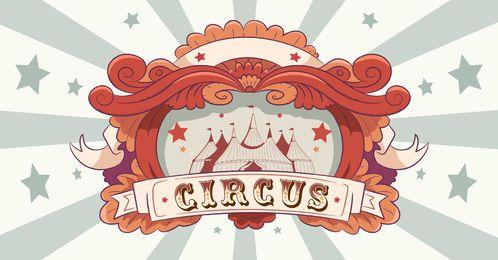 Zirkus-Weinlese-Art-Fahnen-Design