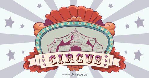Diseño de banner de circo vintage