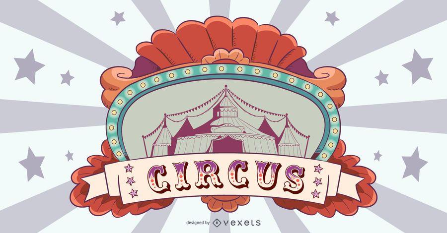 Design de banner de circo vintage