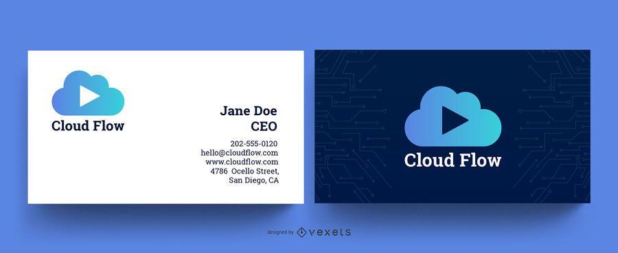 Digital Company Business Card Template