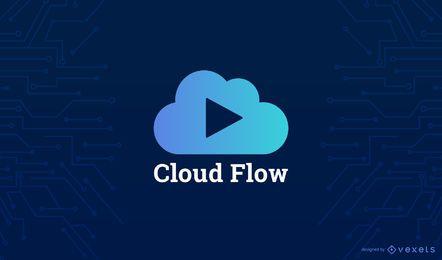 Plantilla de logotipo en la nube