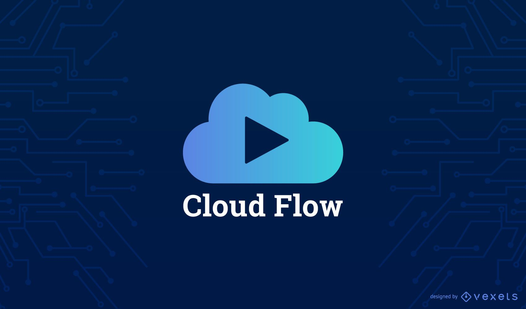 Plantilla de logotipo de nube