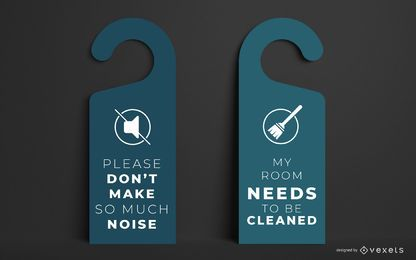 Hotel Door Hanger Template Design