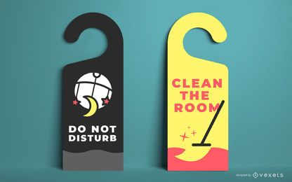 Door Hanger Template Design Set