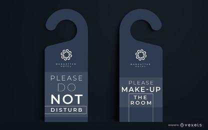 Conjunto de diseño editable de colgador de puerta