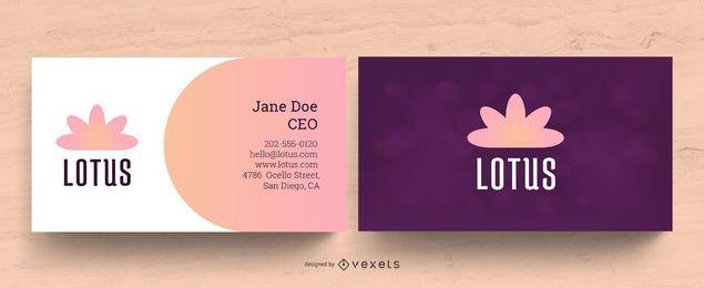 Design de cartão de visita de bem-estar