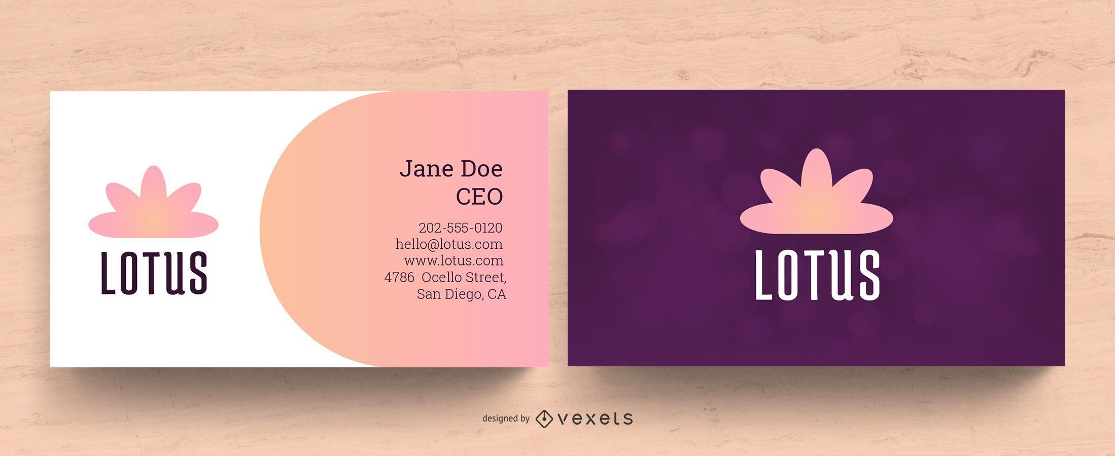 Wellness Business Card Design