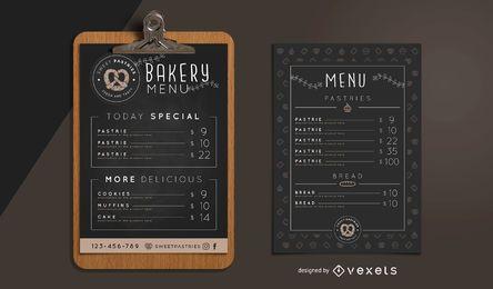 Bäckerei-Menü-Design-Vorlage