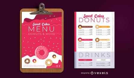 Conjunto de Design de menu de padaria