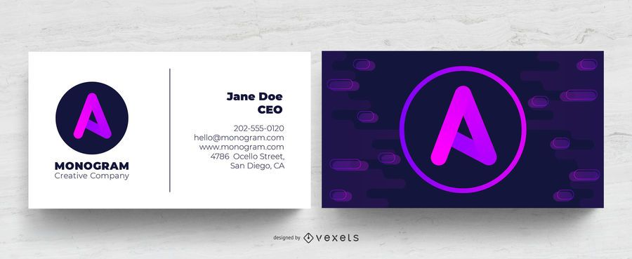 Gradient artistic business card