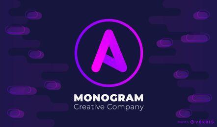 Steigungsmonogramm-Logoentwurf