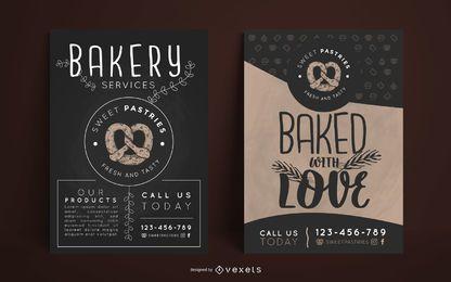 Design de cartaz de padaria