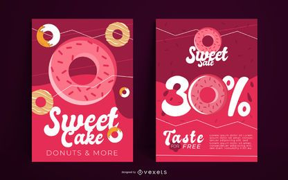Diseño de cartel de dulces