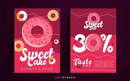 Süßigkeiten Plakatgestaltung