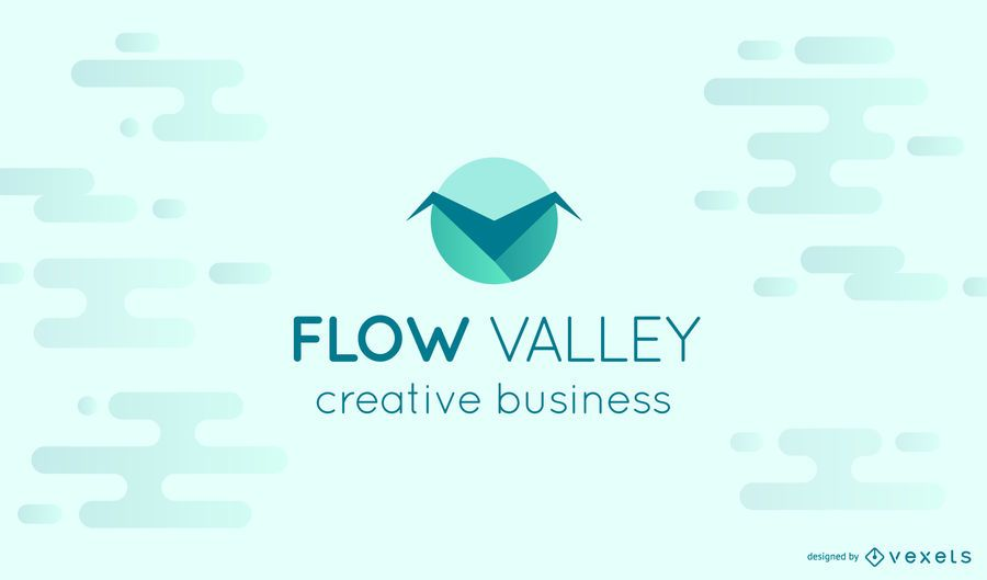 Flow valley logo template