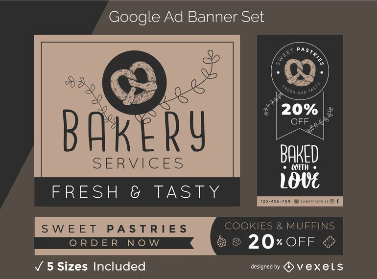 Bakery ad banner set