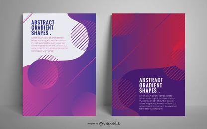 Cartaz abstrato formas gradiente