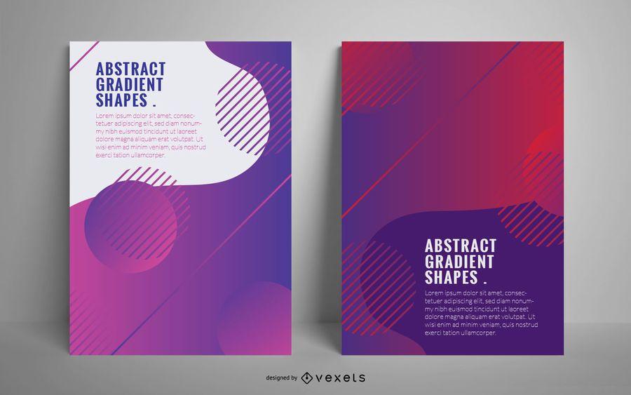 Abstrakte Steigung formt Plakat