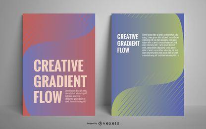 Conjunto de cartaz gradiente