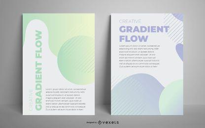 Artistic gradient poster set