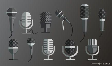 Conjunto plano de microfones