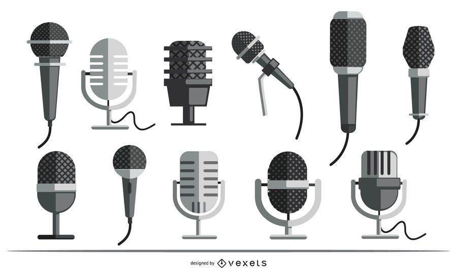 Microphones flat set