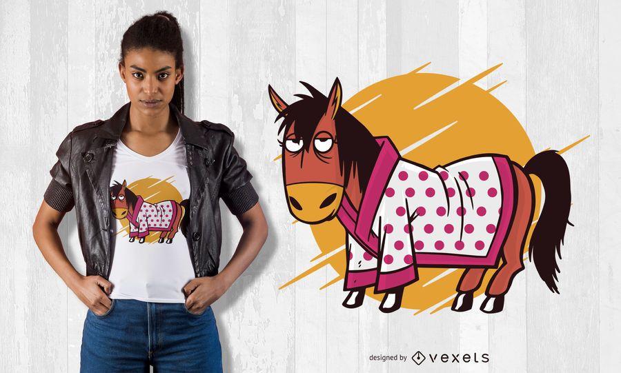 Bathrobe horse t-shirt design