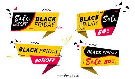 Conjunto de emblemas de sexta-feira negra
