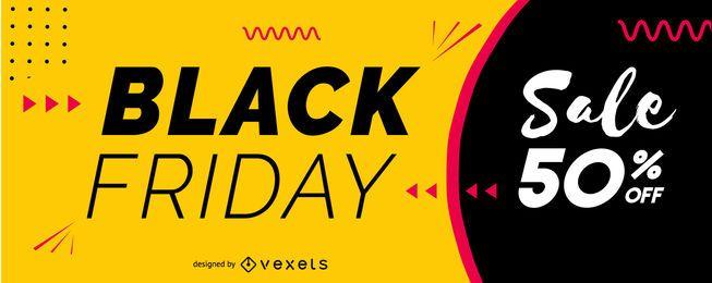 Black Friday Sale Schieberegler Design