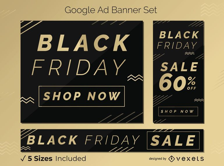 Black friday discount banner set