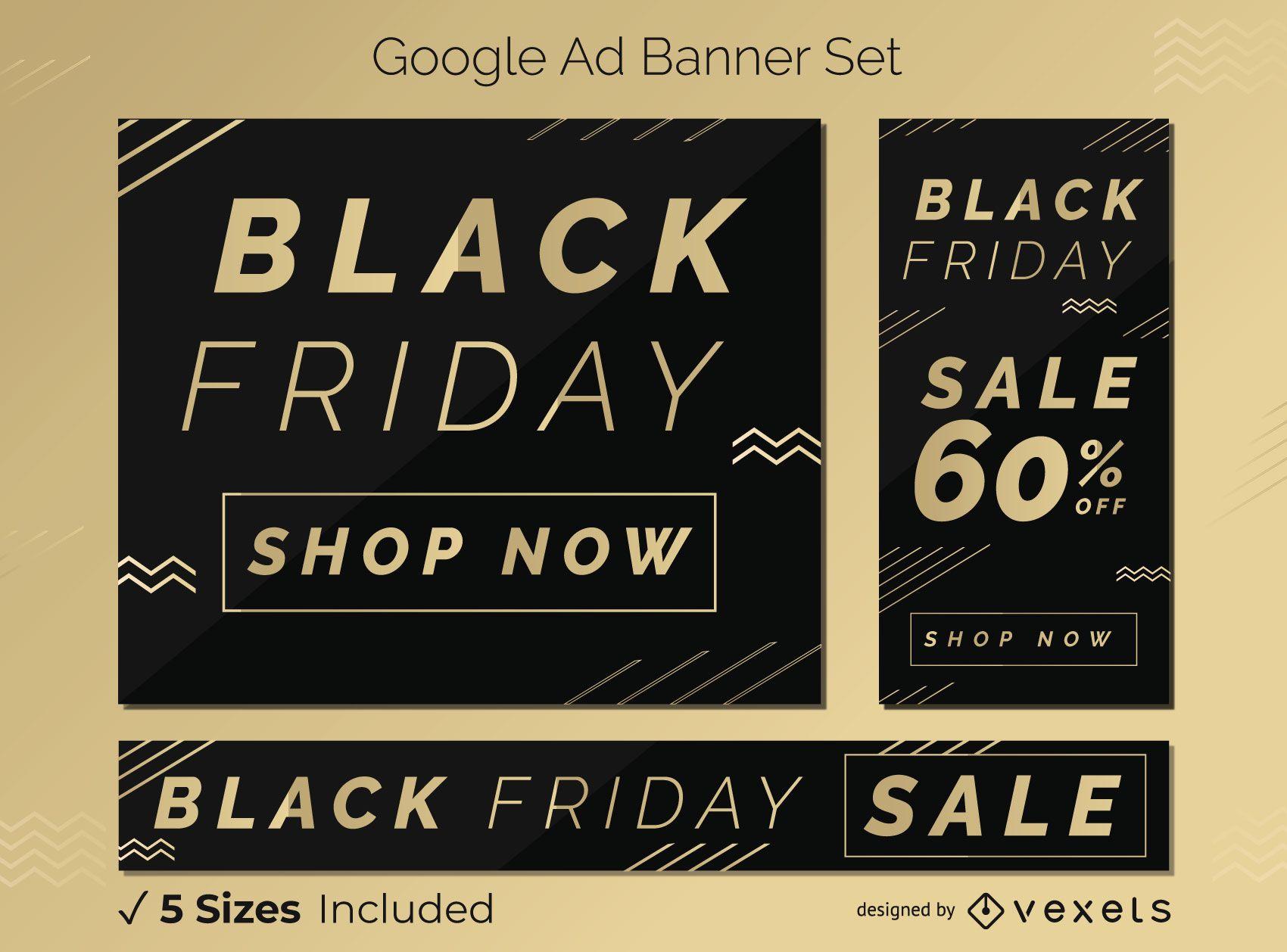 Black friday discount banner set