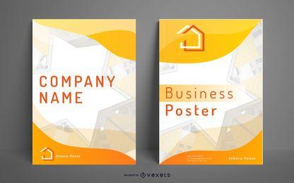 Diseño de casas de póster de negocios