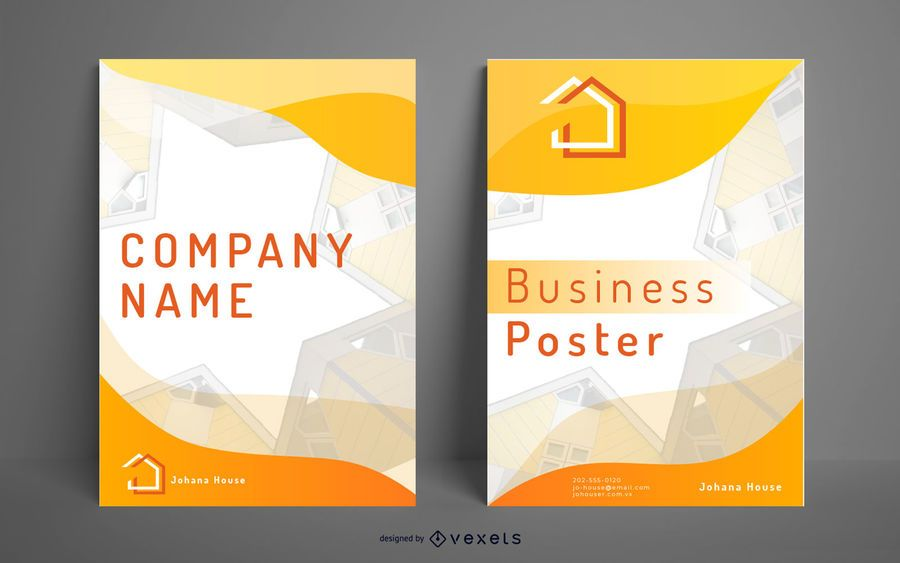 Business poster houses design