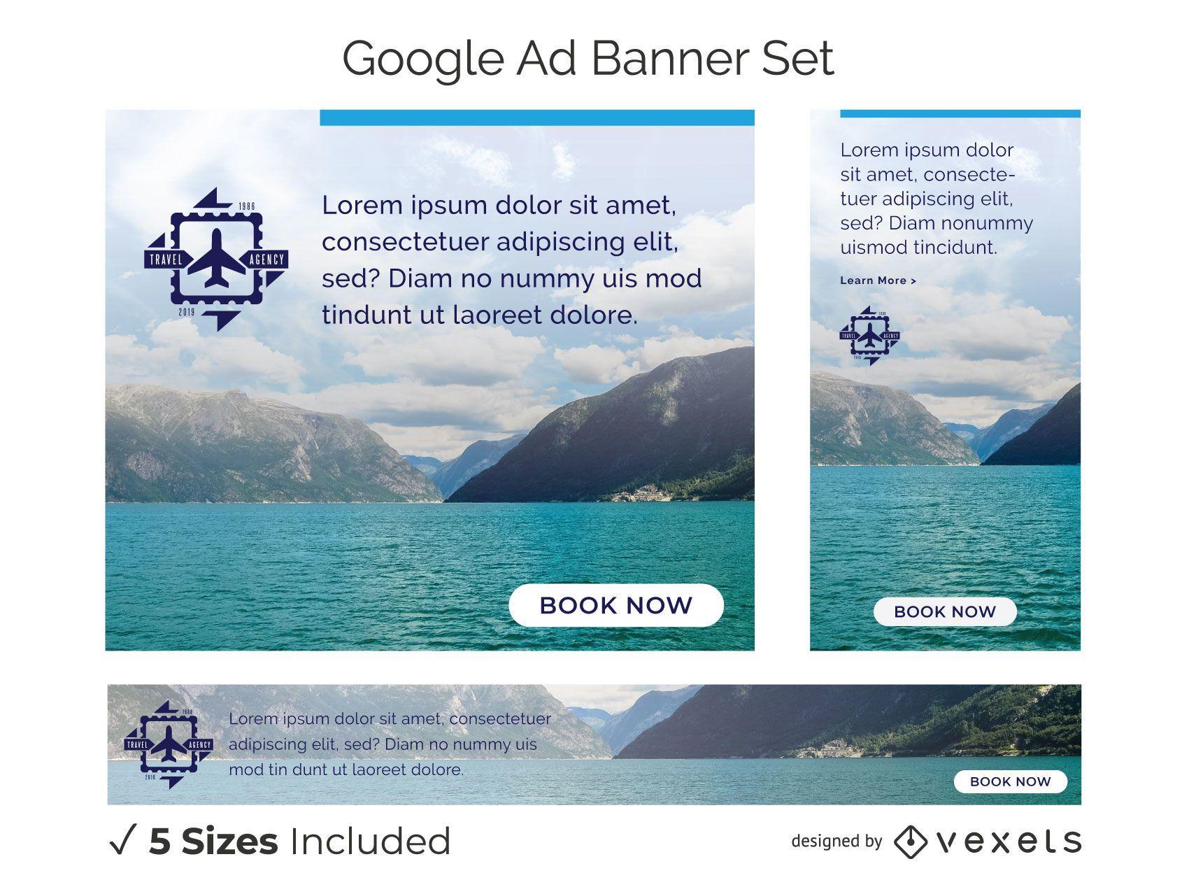 Travel agency banner set