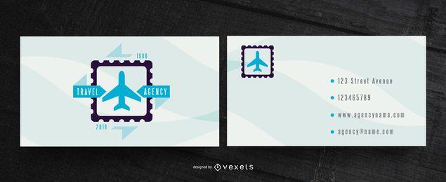 Diseño de tarjeta de visita de agencia de viajes