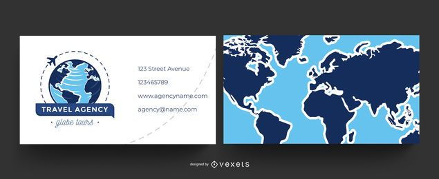 Travel agency world business card