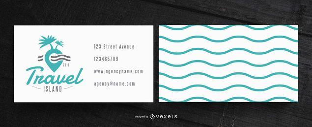 Cartão de visita simples para viagens