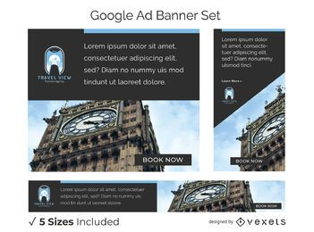 Travel view banner set