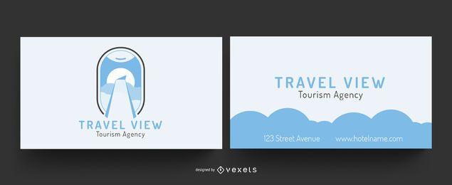 Cartão de visita com vista de viagem
