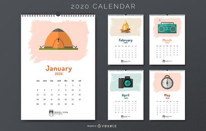 Travel 2020 calendar