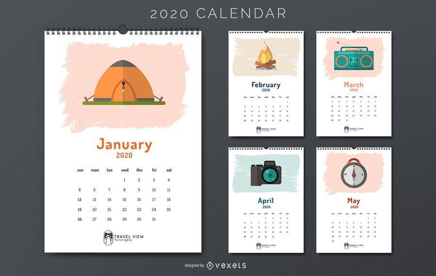 Calendario de viajes 2020