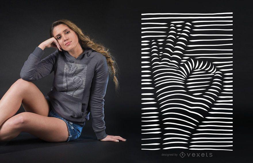 3D Effect OK Hand Sign T-shirt Design